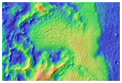 Collapse Features on Hrad Vallis Mudflow