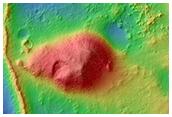 Sinuous Ridges in Eastern Peta Crater