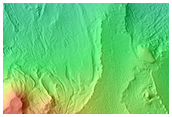 Light-Toned Outcrops in Noctis Region