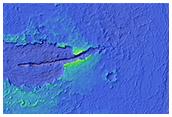 Lava Vent in Impact Crater in Elysium Planitia