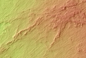 Alluvial Fan Surface with Inverted Channels