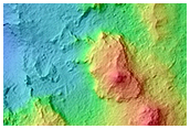 Western Portion of Central Structure in Mazamba Crater