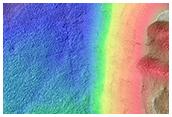 Northern Hellas Planitia Layered Bedrock