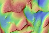 Holden Crater Dune Topography