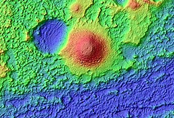 Colorful Mounds and Bedrock in Terra Sirenum