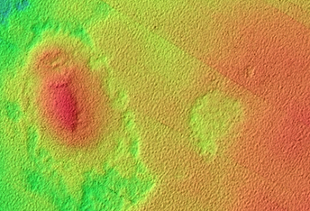 Crater with Topographically Inverted Ejecta Blanket