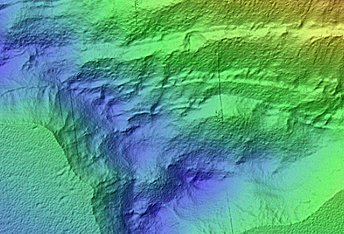 Erosional Scarp in Mid-Latitude Mantle