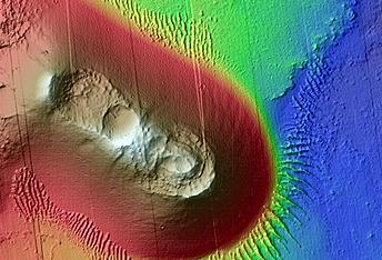 Cratered Cone North of Noctis Fossae