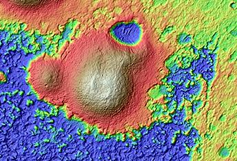 Cones on Crater Floor in Terra Sirenum