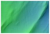 Dark Slope Streak with Streak-Generated Topography