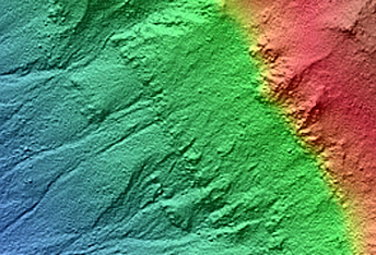 Gullies with Meanders (Corozal Crater)