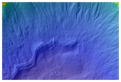 Fresh 6-Kilometer Diameter Crater with Gullied Slopes