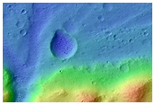 Small Crater Filled By Deltaic Deposits