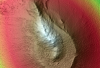 Chain of Mounds in the Tharsis Region