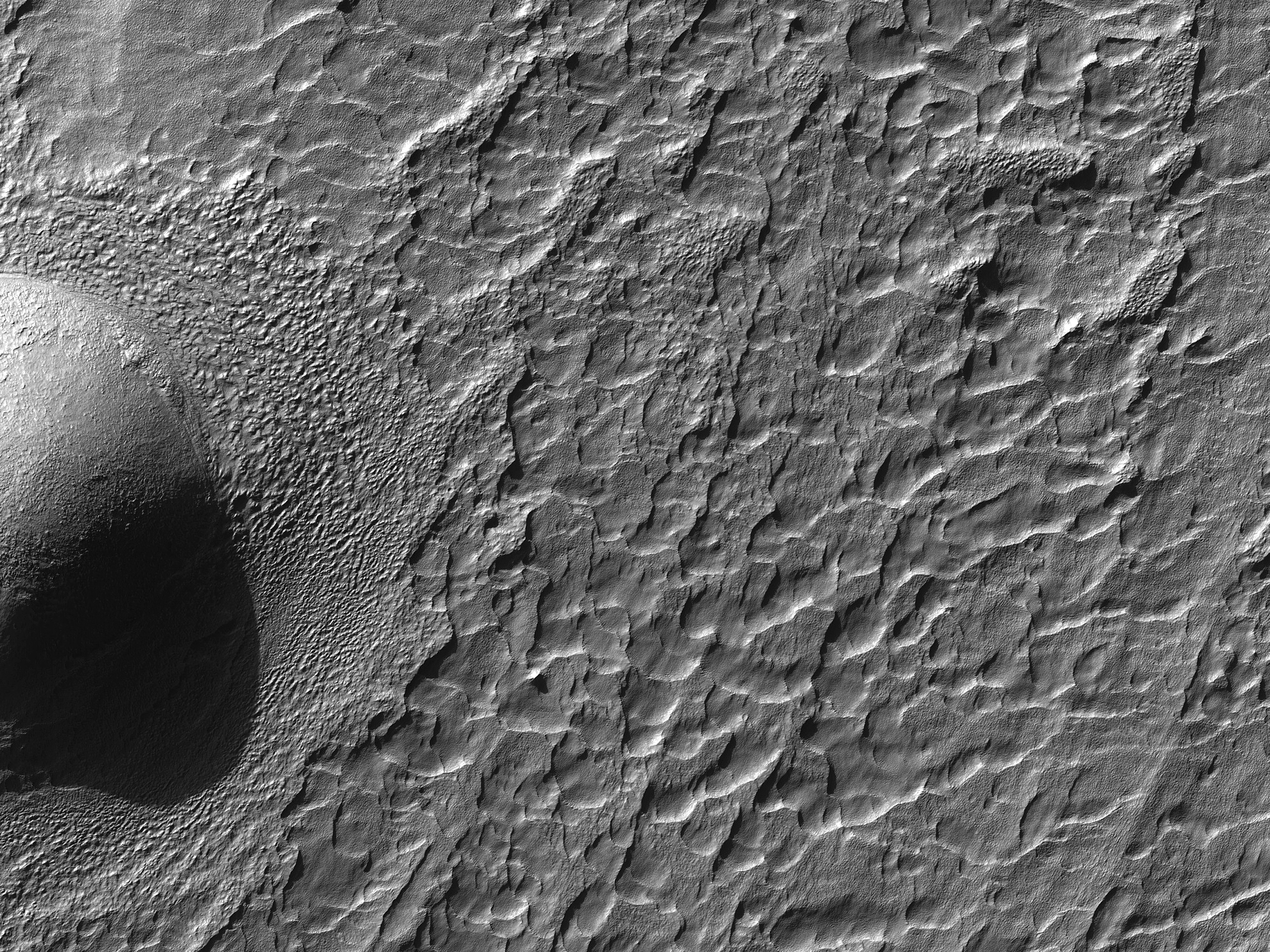 Fretted Terrain to the East of Hellas Planitia