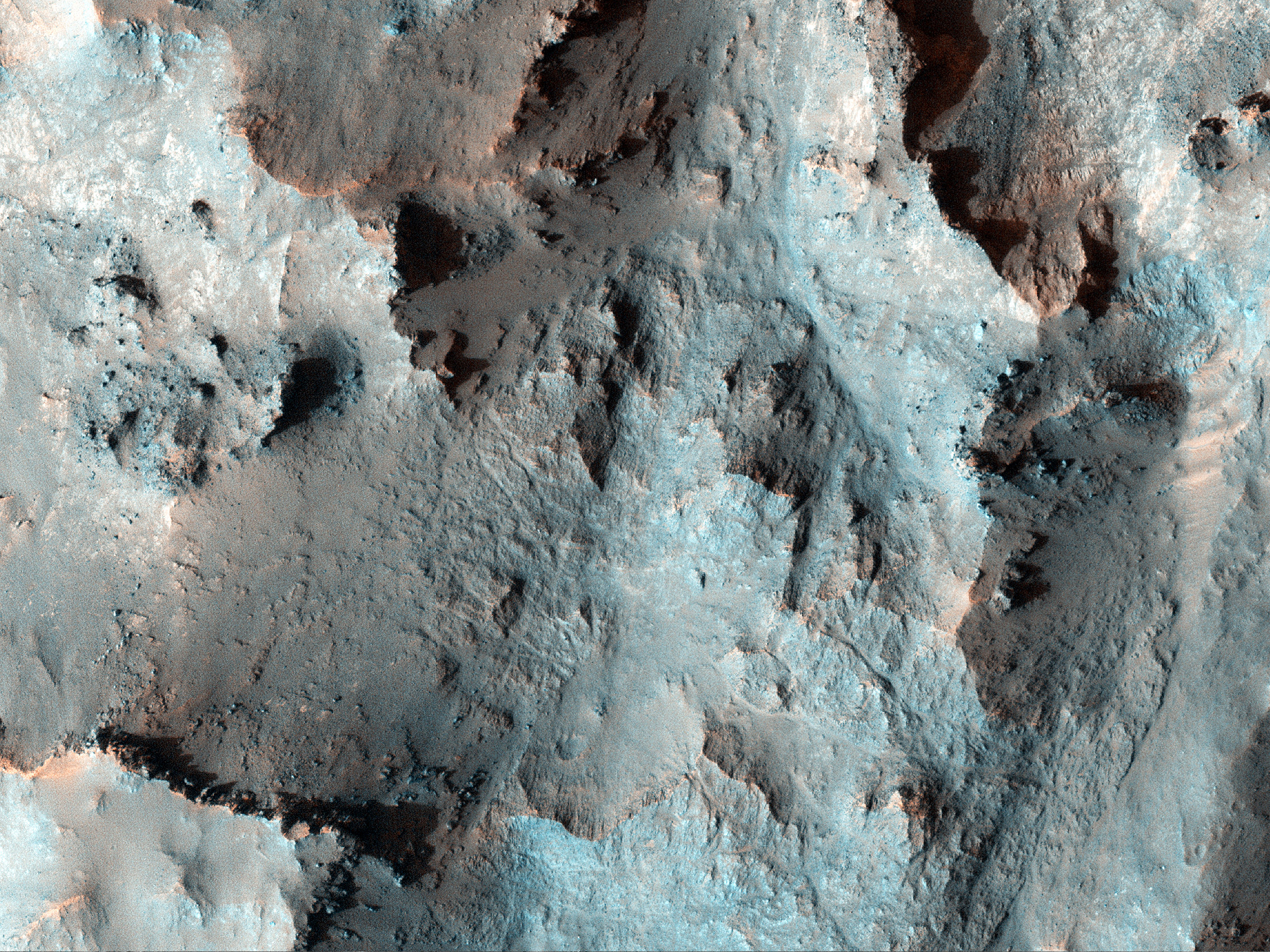 Central Peak of Elorza Crater