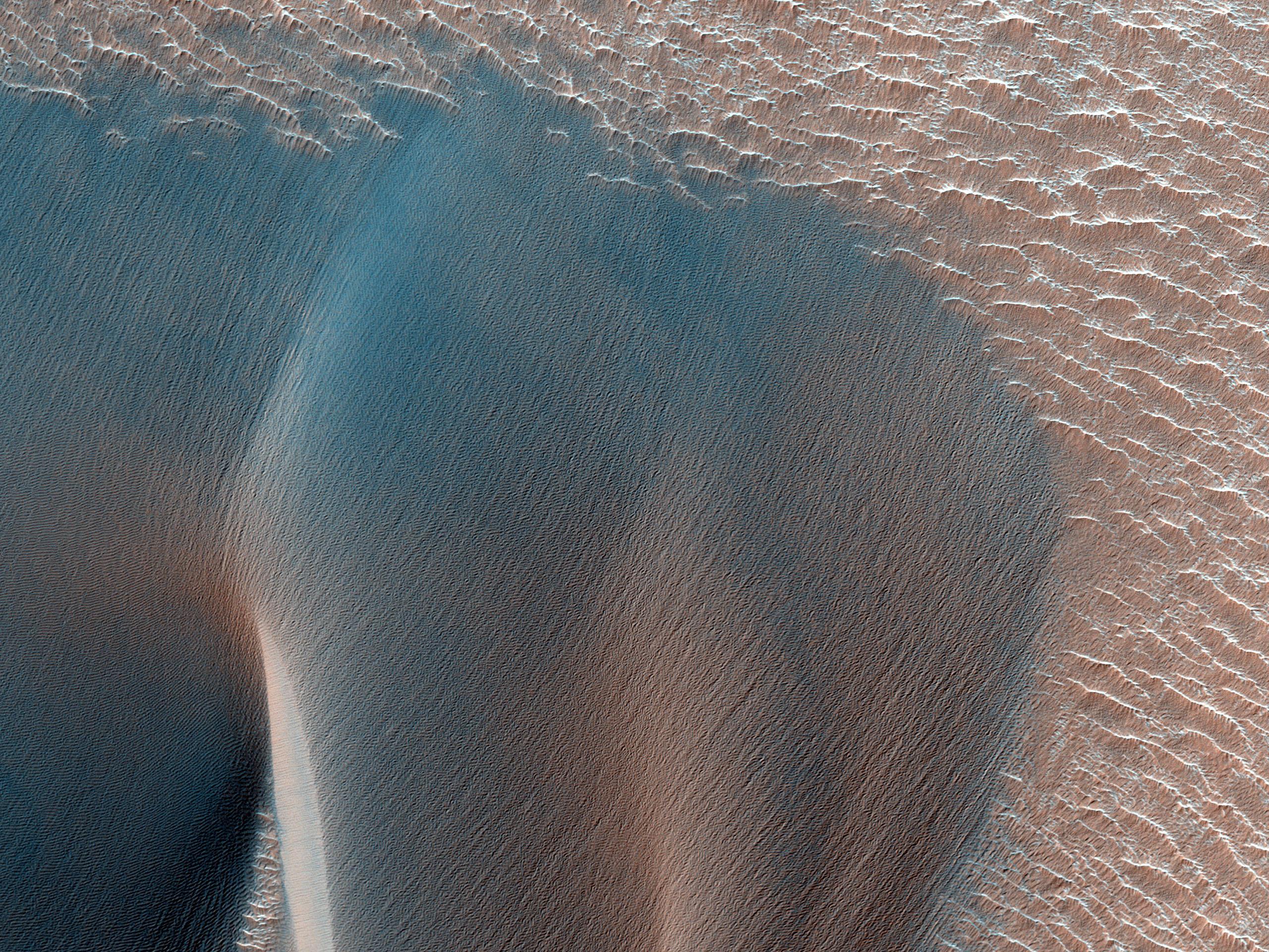 Northwest Ius Chasma Landslide and Dune Field
