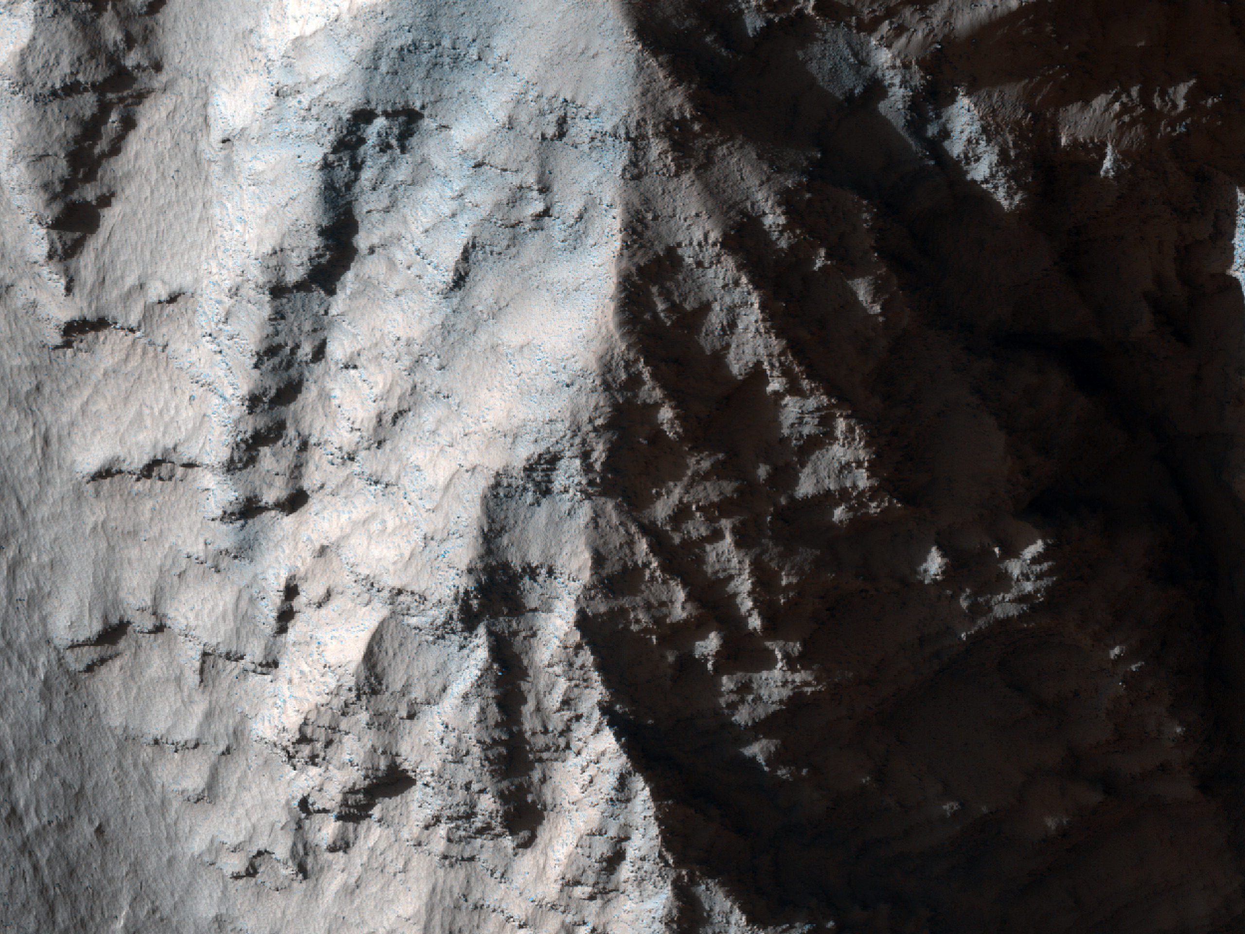 Bedrock Layers in Tithonium Chasma