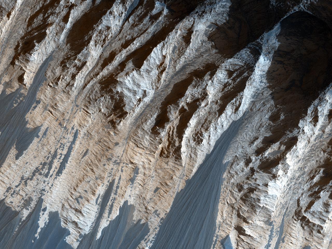Lapsus massarum in Valle Marineris