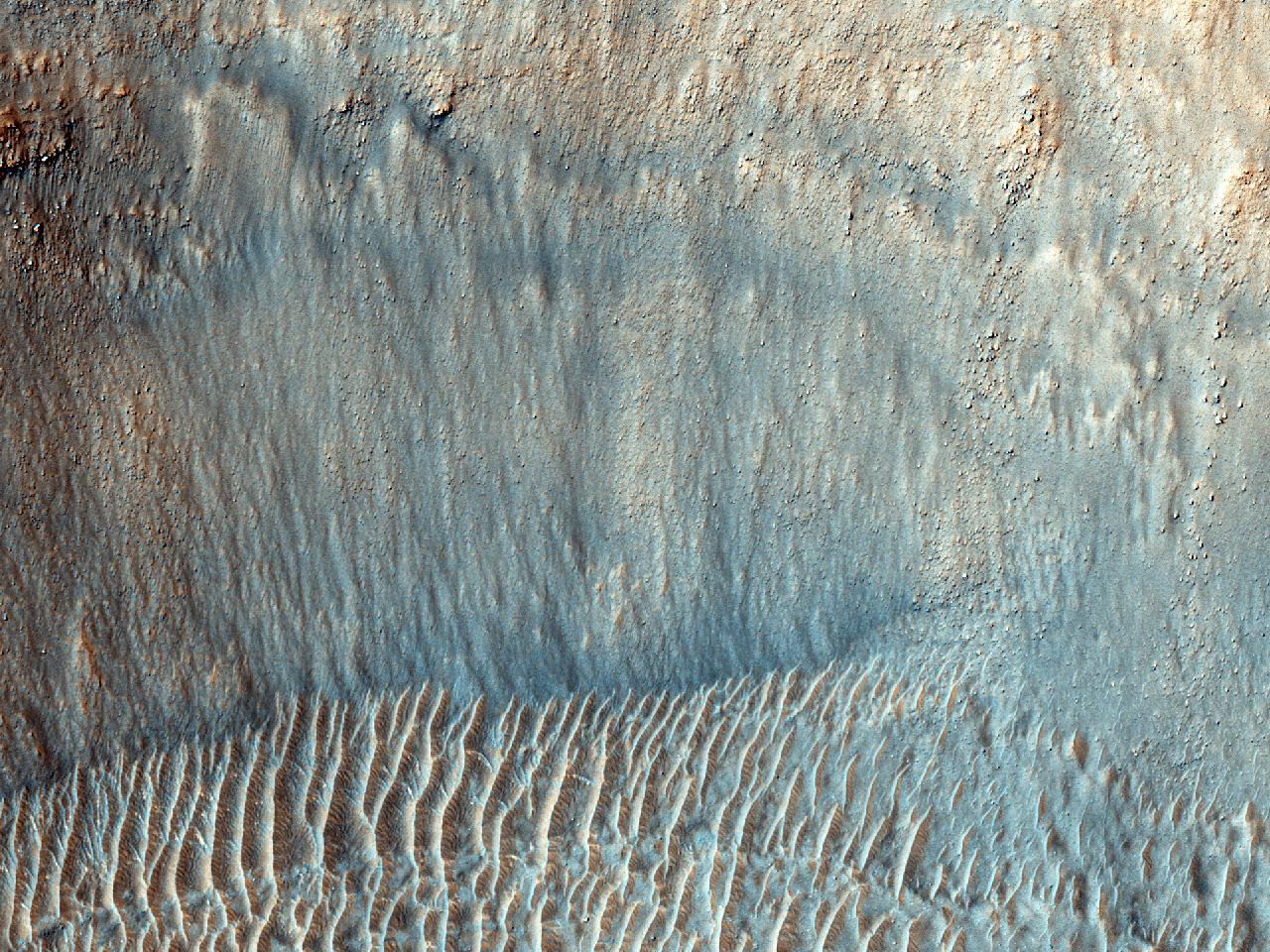 Sirenum Fossae ad meridionalem Atlantis Chaous partem