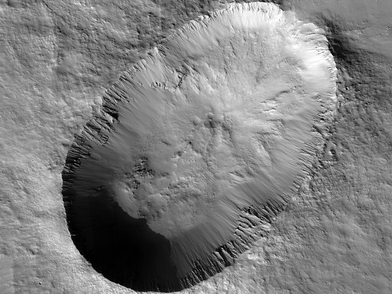 Crater extensus in Fossis Cyanes