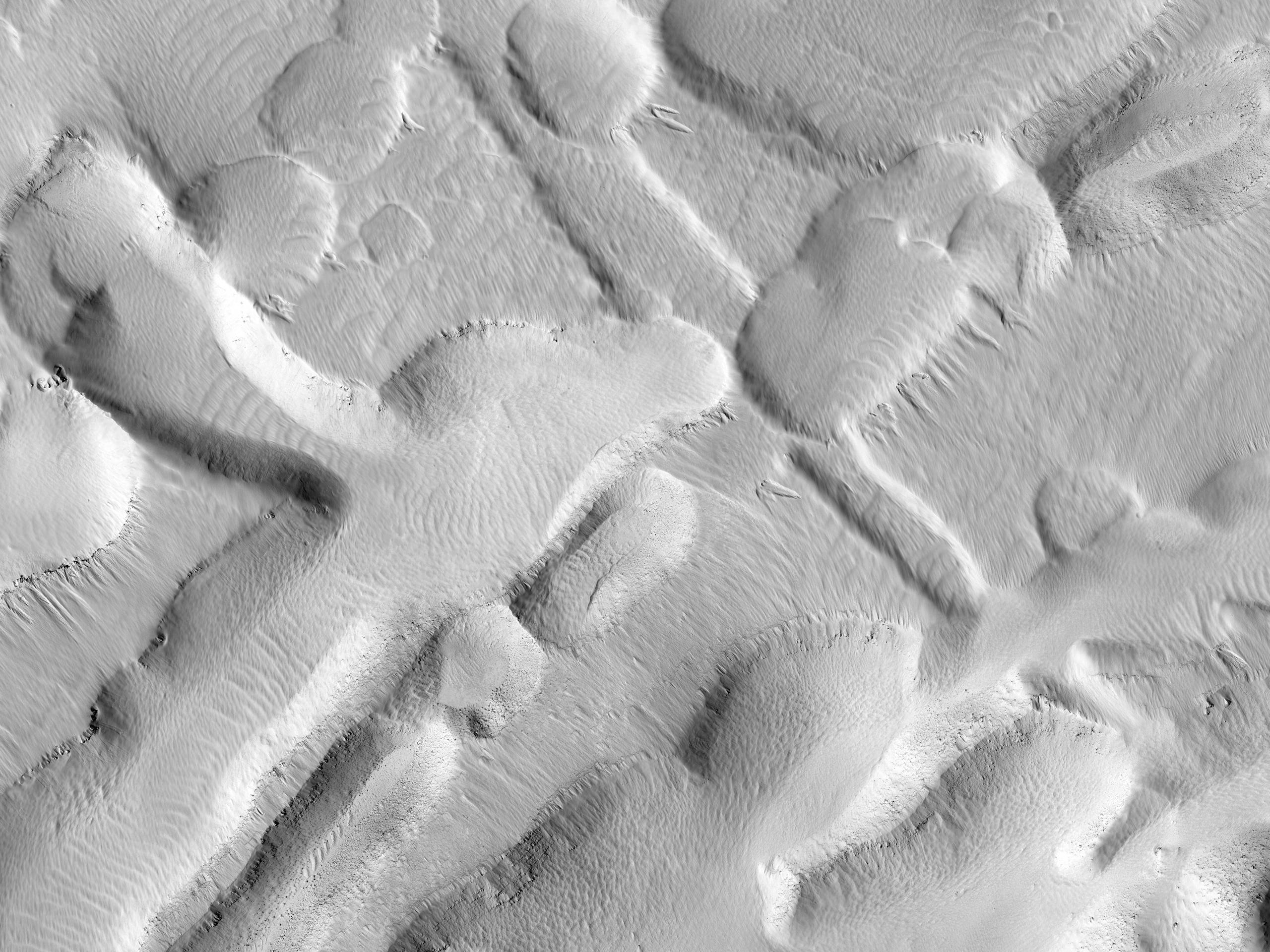 The Busy Flank of Arsia Mons