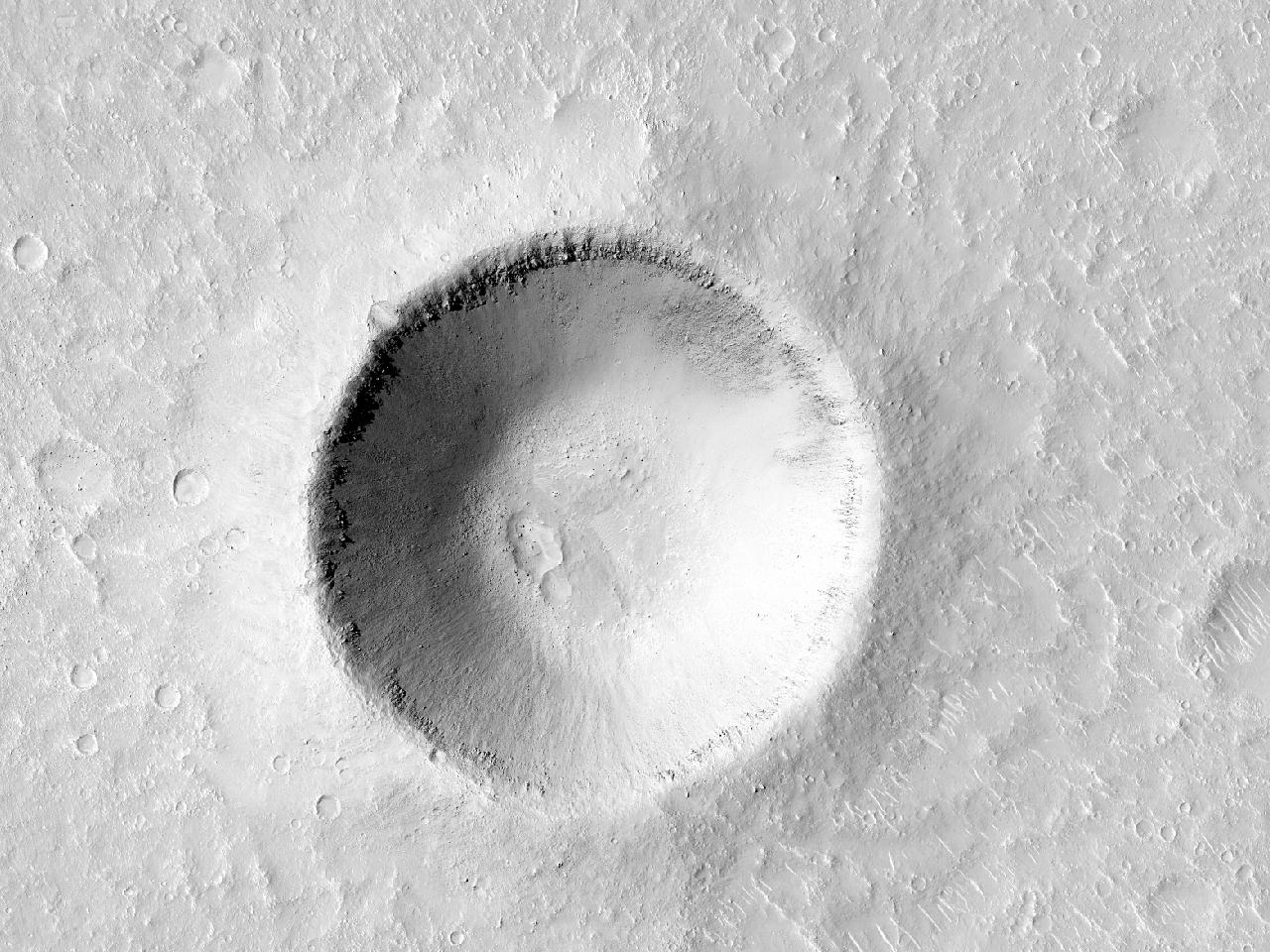 Cratera em Isidis Planitia