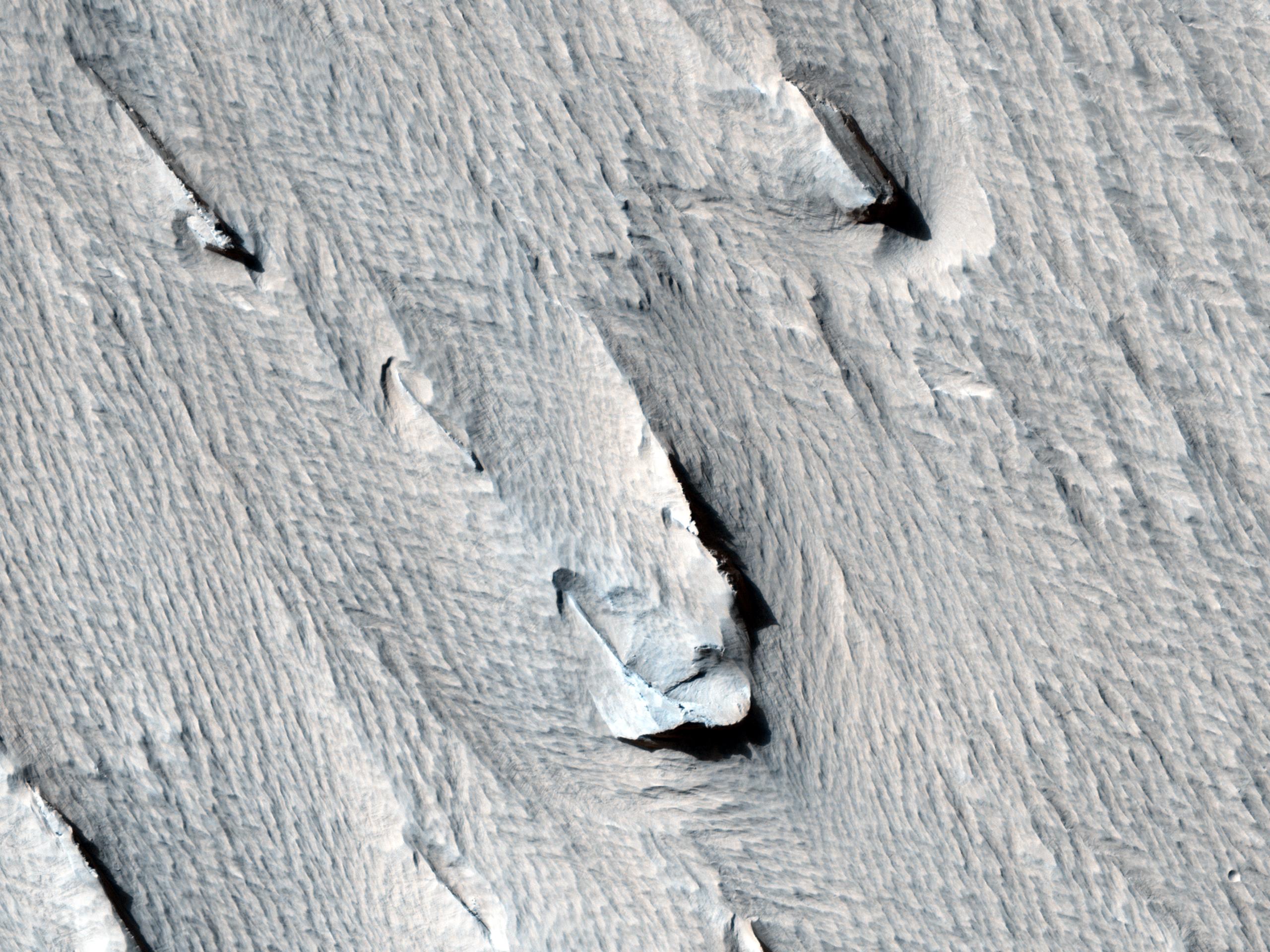 Σχηματισμός Yardangs Κοντά στην Κορυφογρμμή του Γόρδιου (Gordii Dorsum)