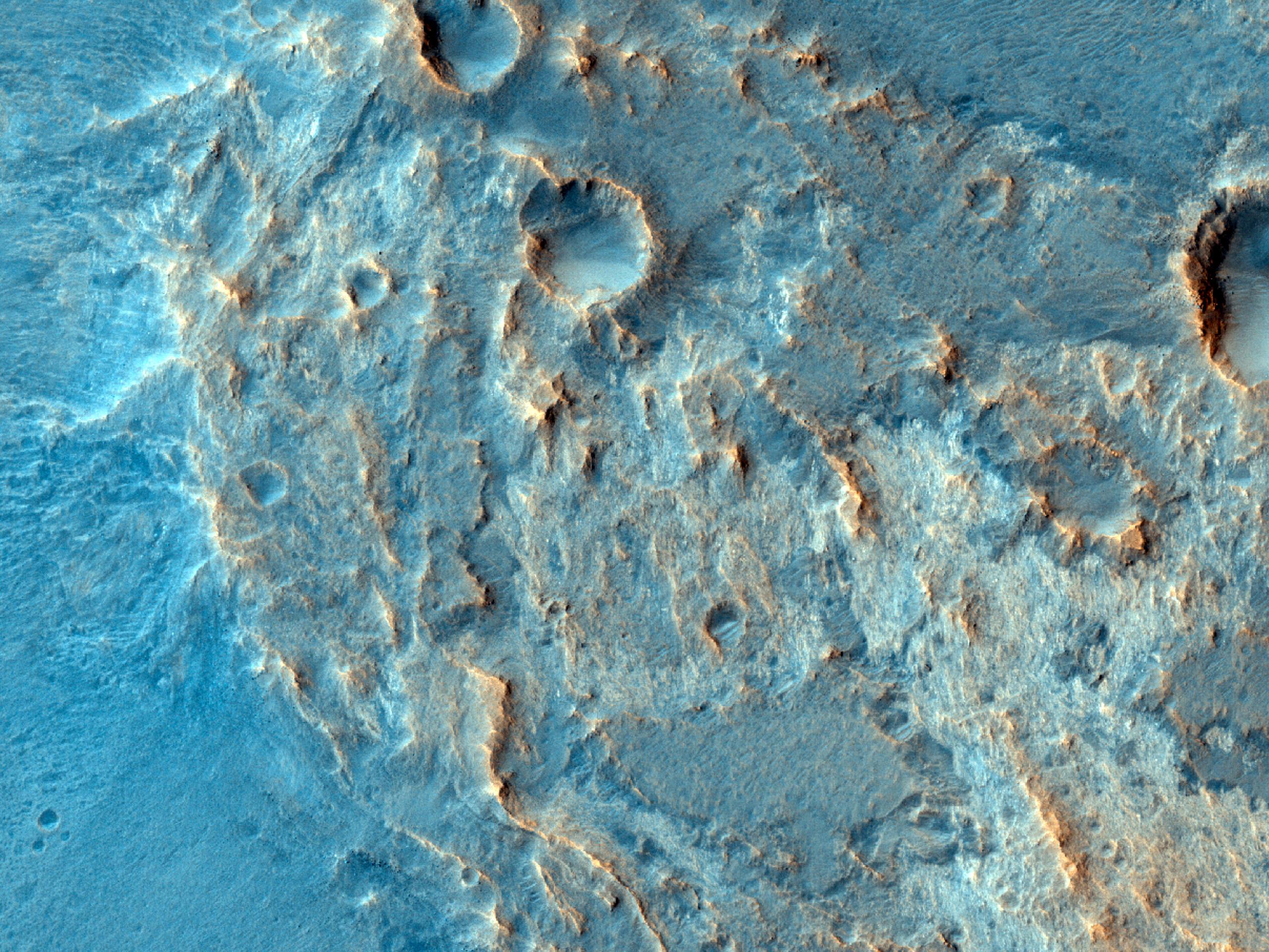Afloramentos em Mawrth Vallis
