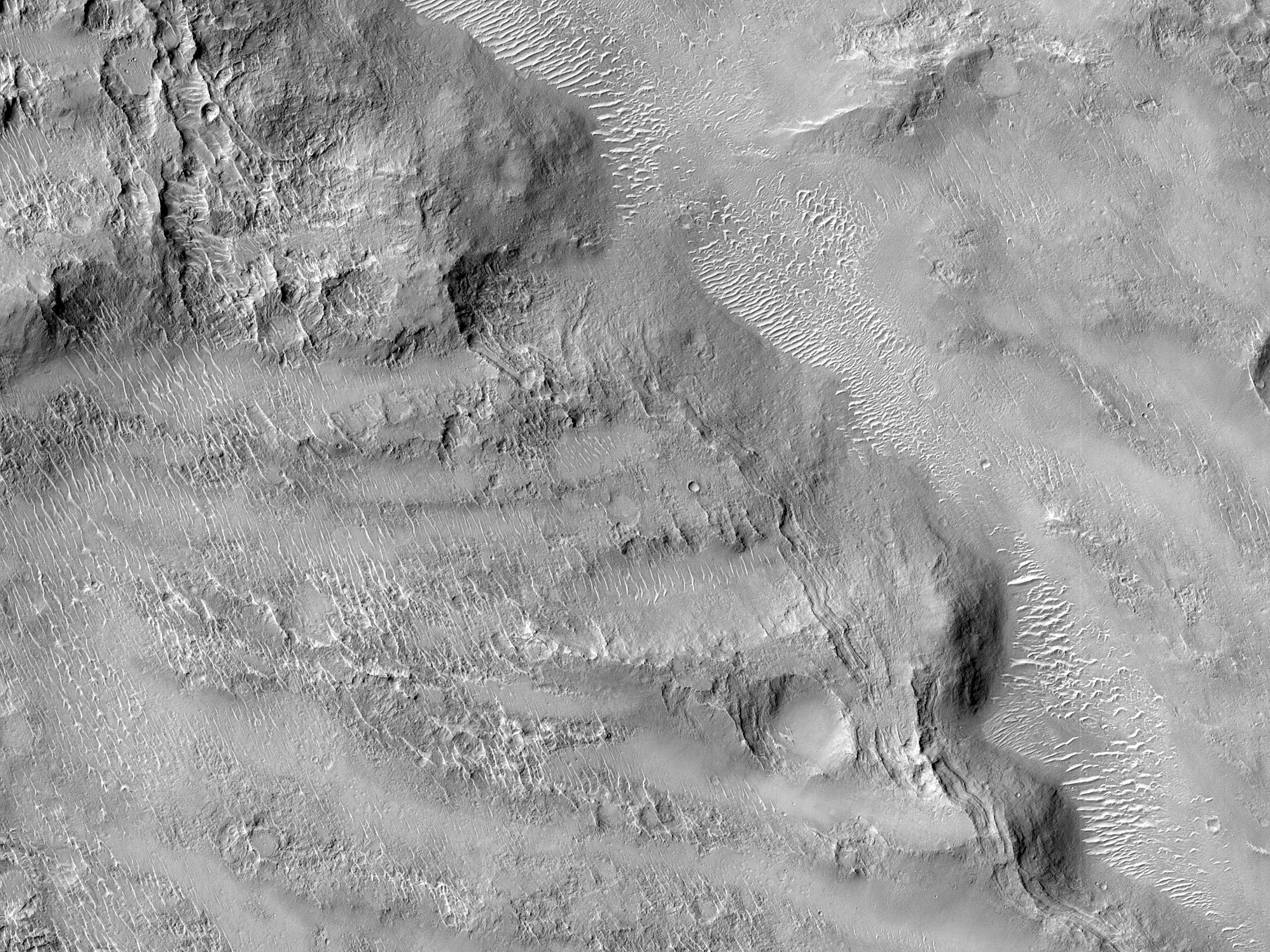 The Edge of a Complex Crater