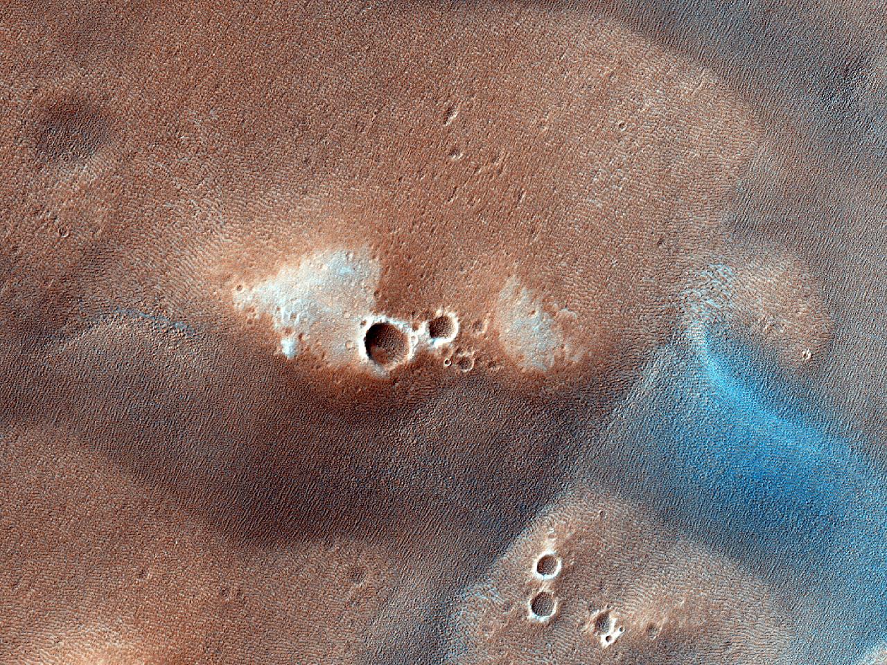 Dyner på bunnen av krateret