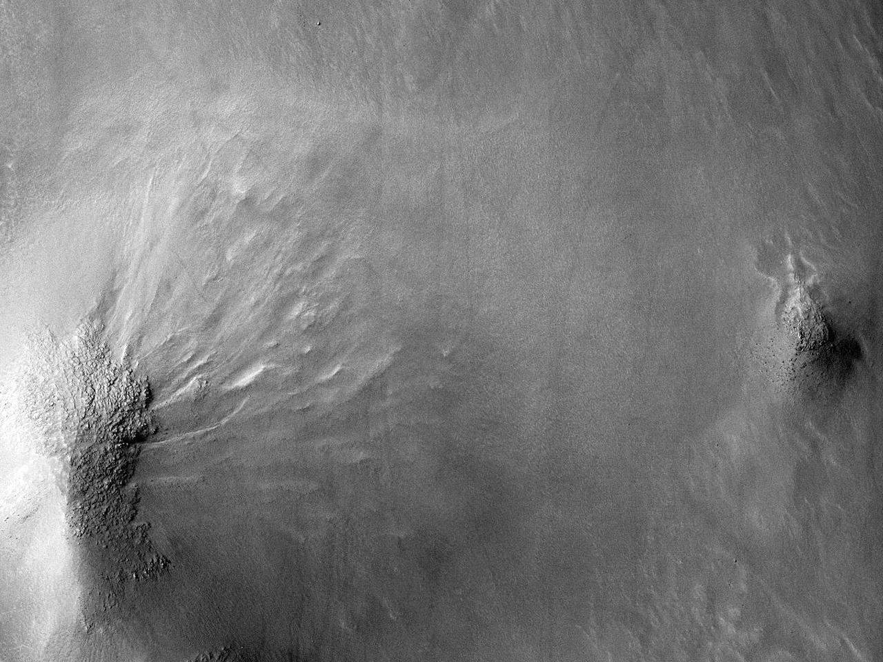 Kløfter i Galle-krateret