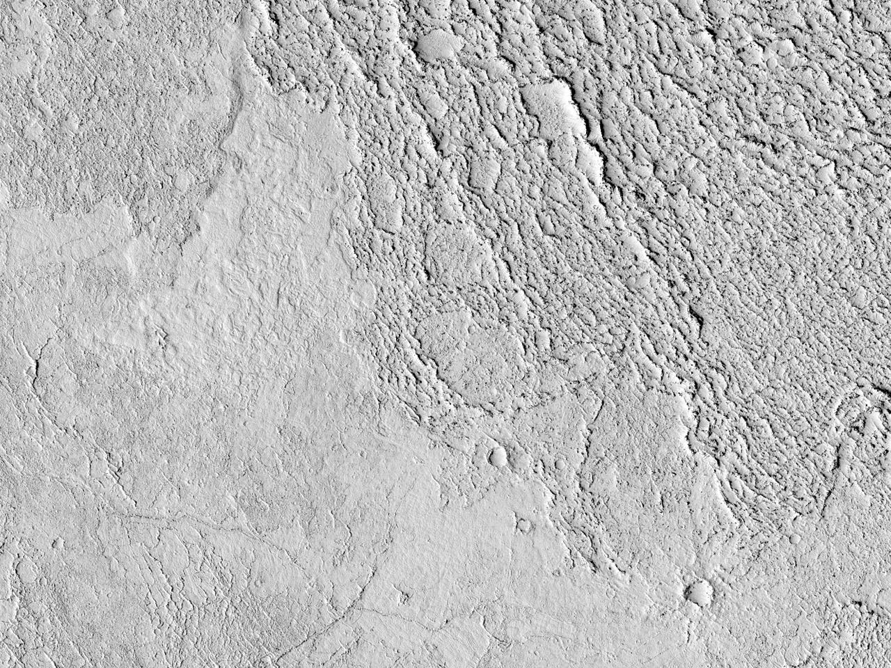 Lavastrømmer i Elysium Planitia