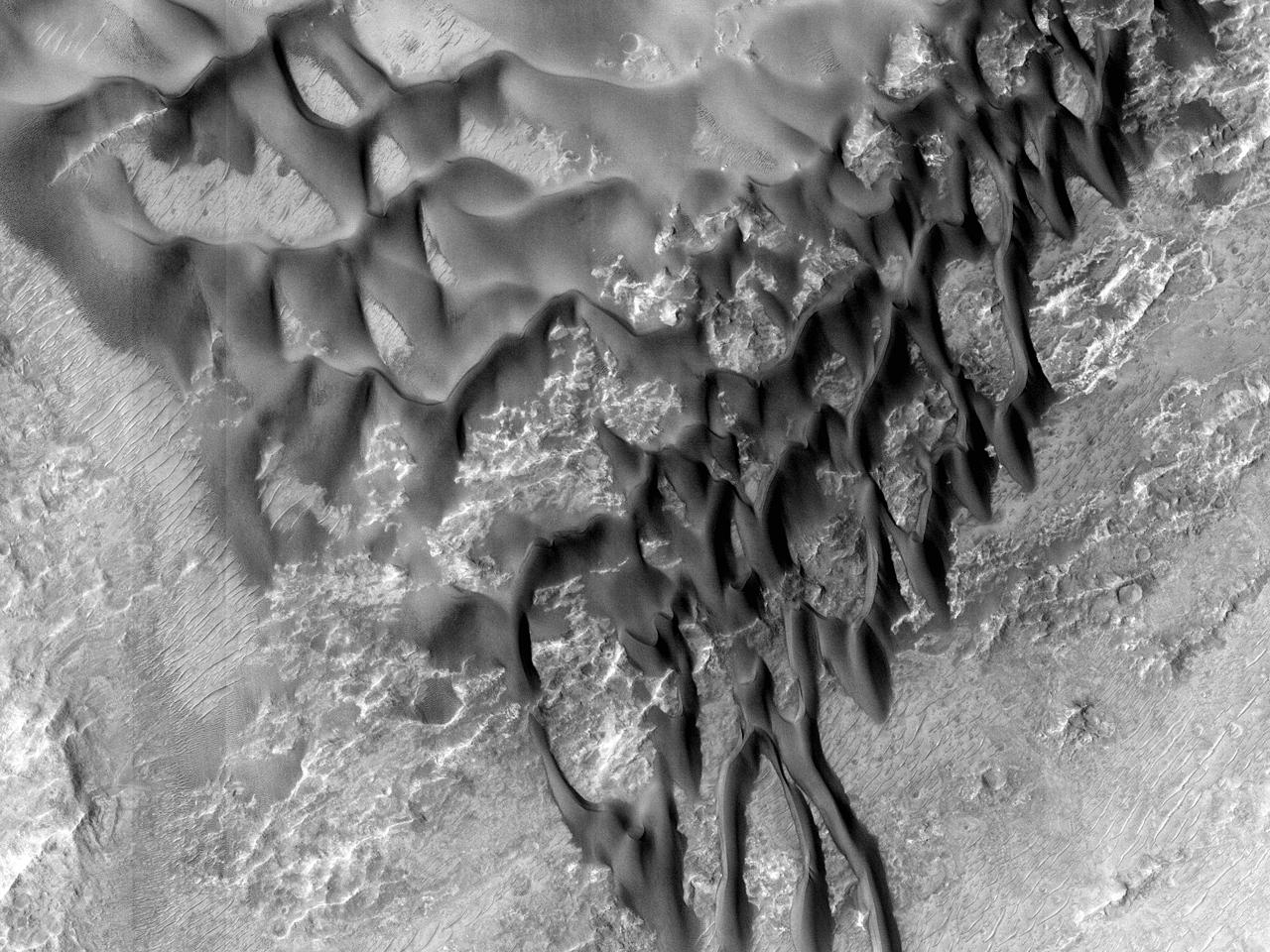 Bunnen av østre Coprates Chasma