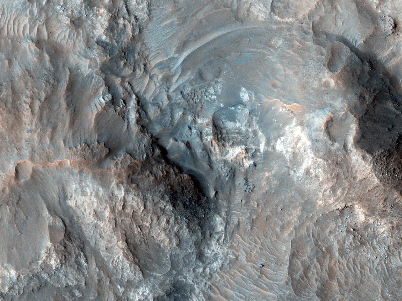 Berggrunn nær Margaritifer Terra
