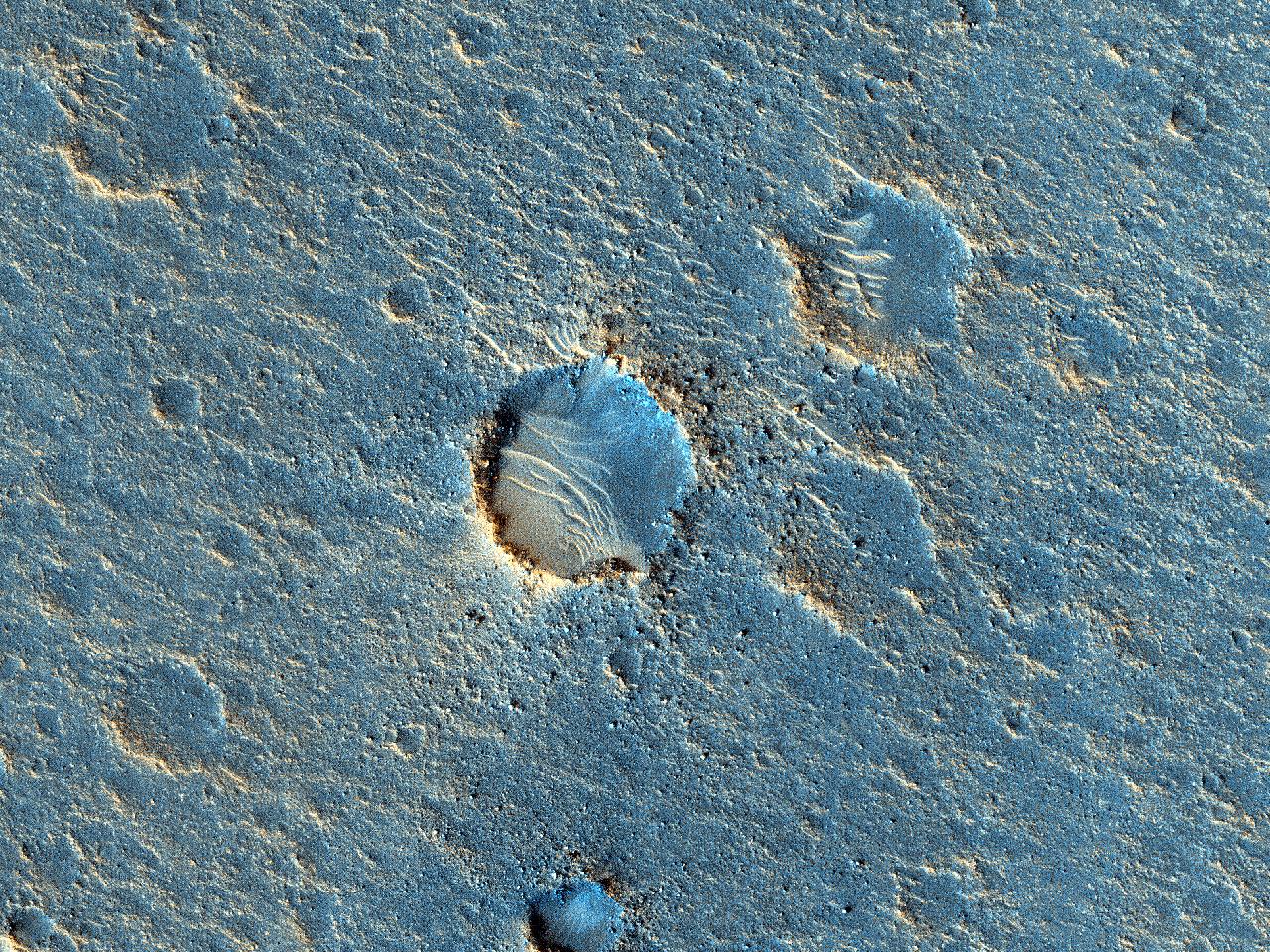 Steinete terrenge vest for Mawrth Vallis
