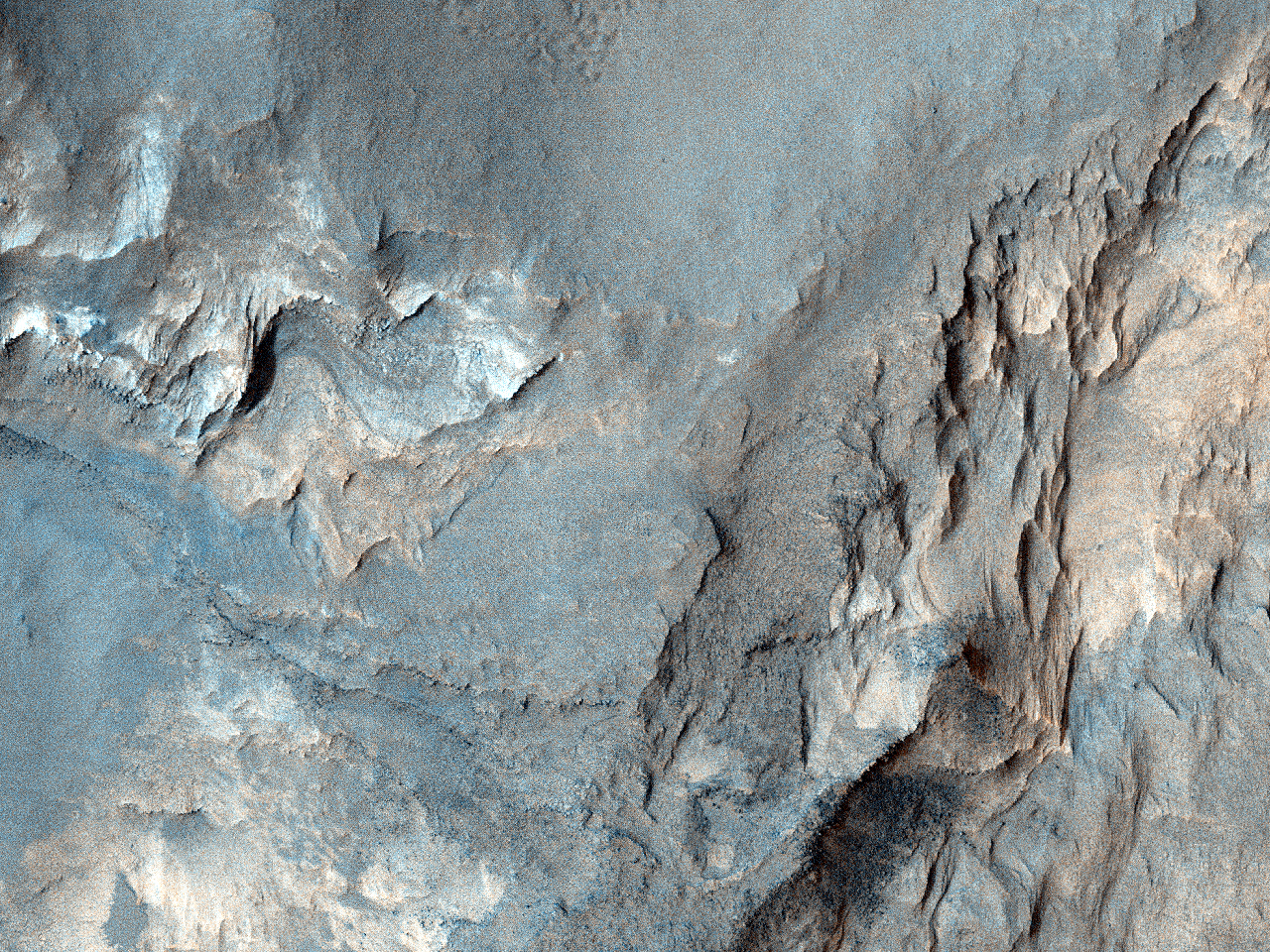 Aflorimente în Craterul Terby