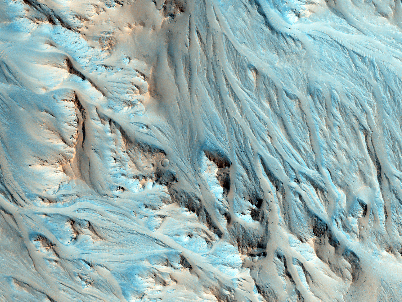 Конус выноса в Юго-Восточной части кратера Mojave