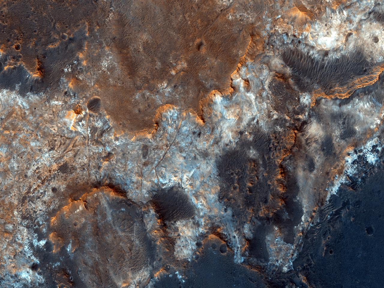 În regiunea Mawrth Vallis