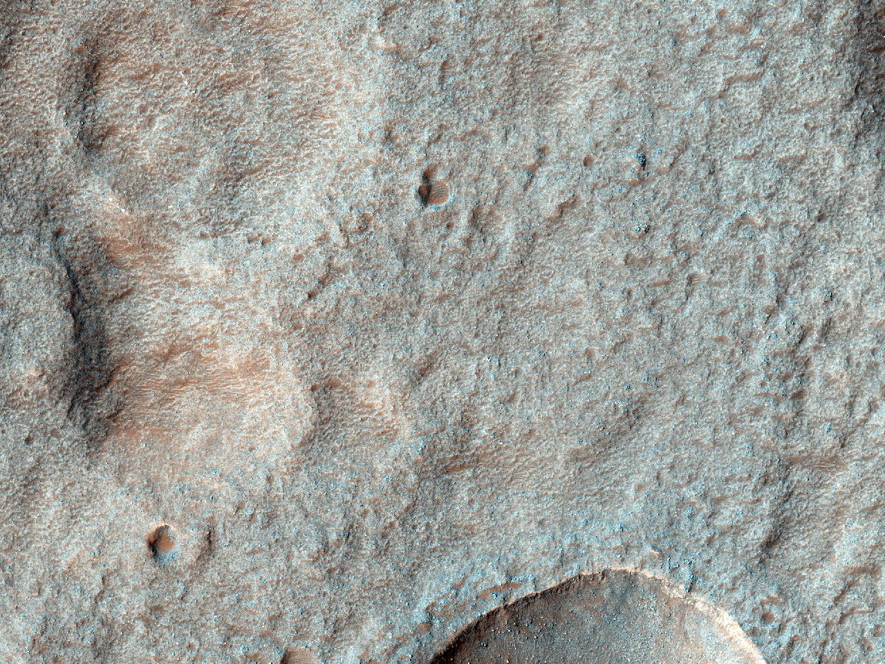 Mulig fremtidig landingsfelt i Terby-krateret