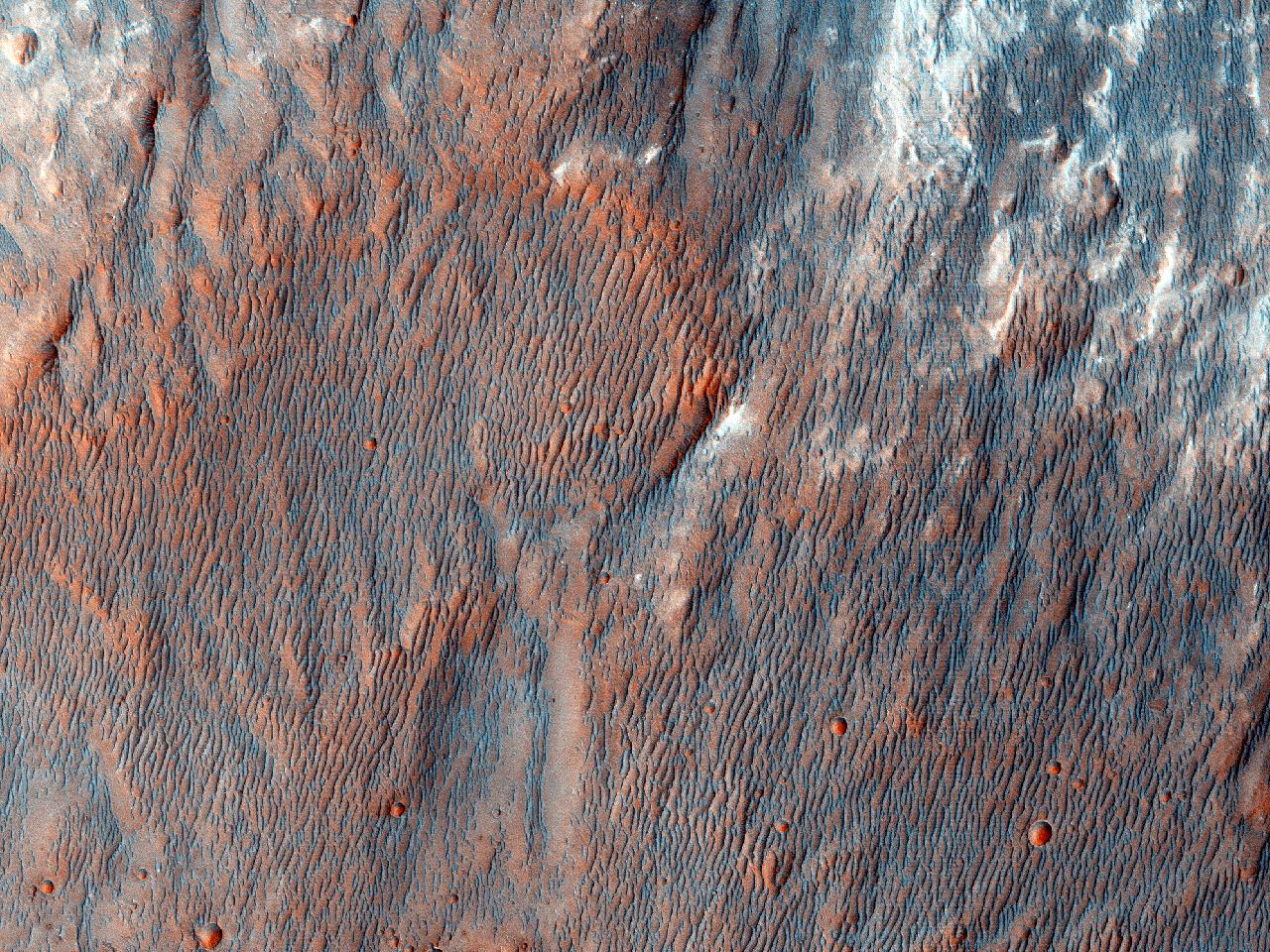 Caracteristici fluviale în Craterul Bigbee