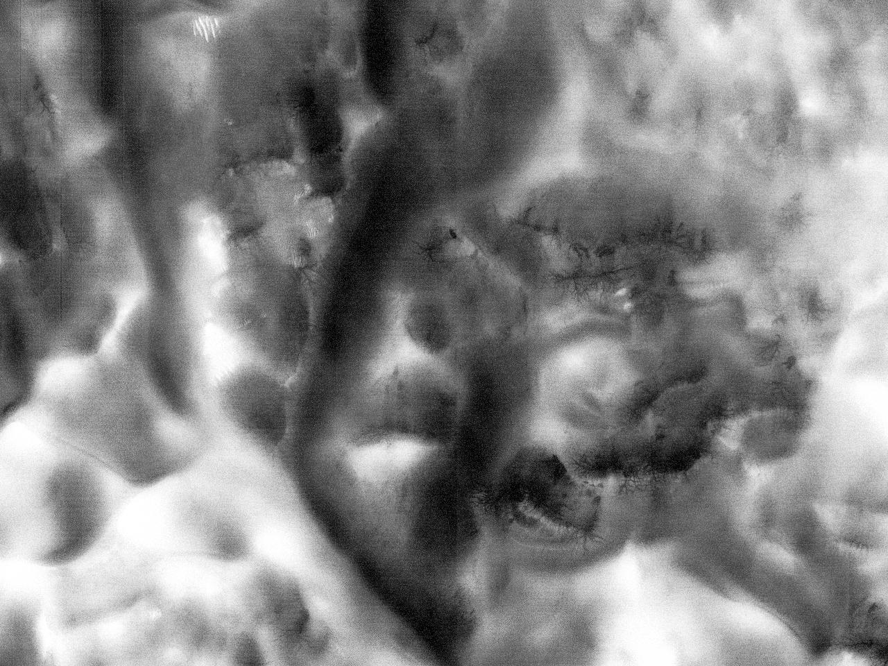 Дюны в кратере Jeans