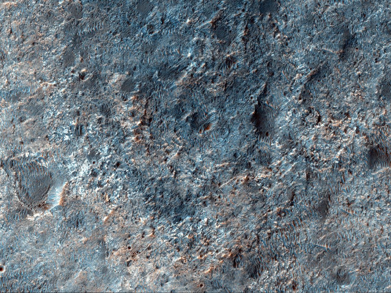 Возможное место посадки миссии 2020 года в кратере Kashira
