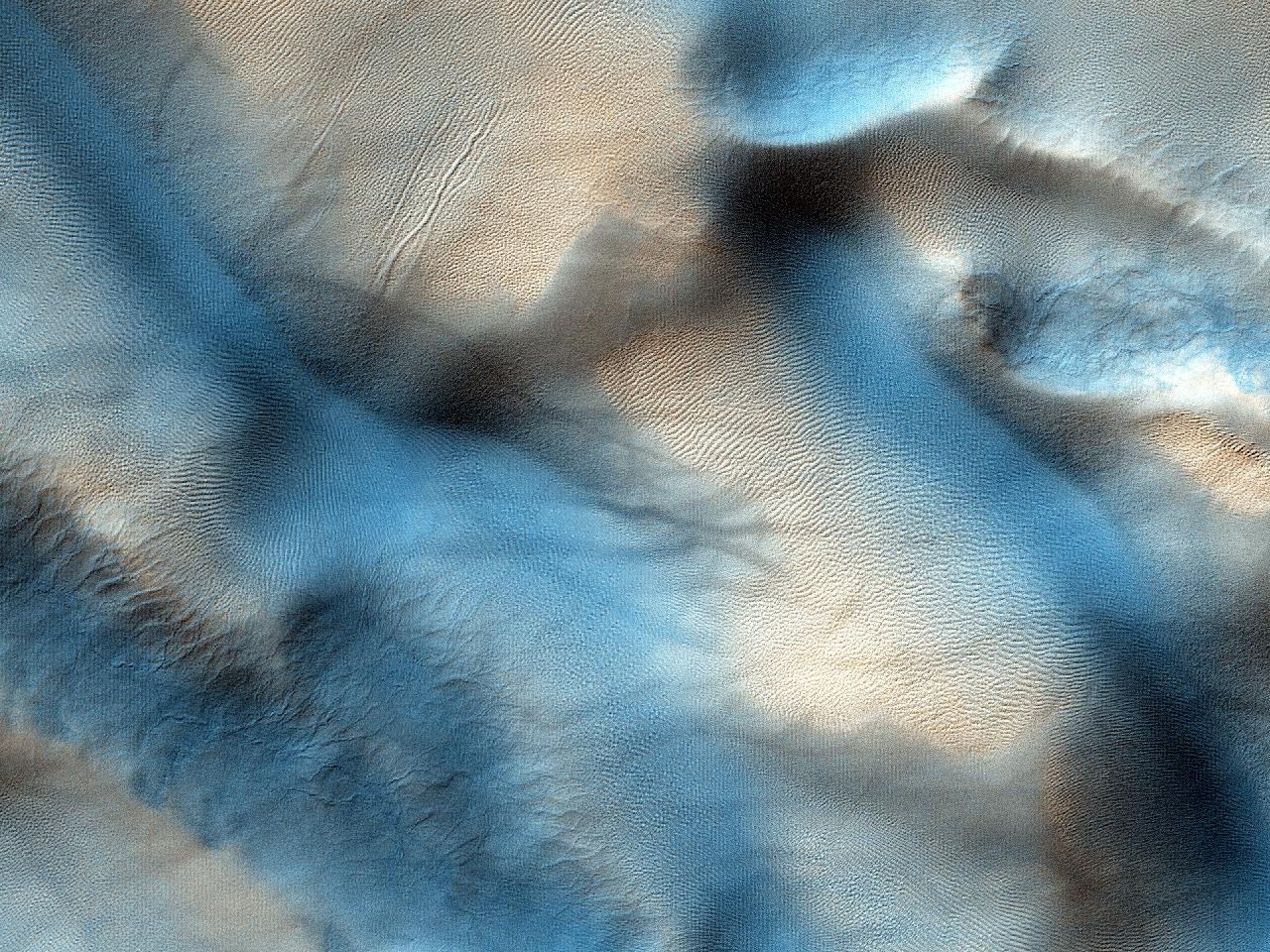 كثبان لفوهة جينس  (Jeans Crater)