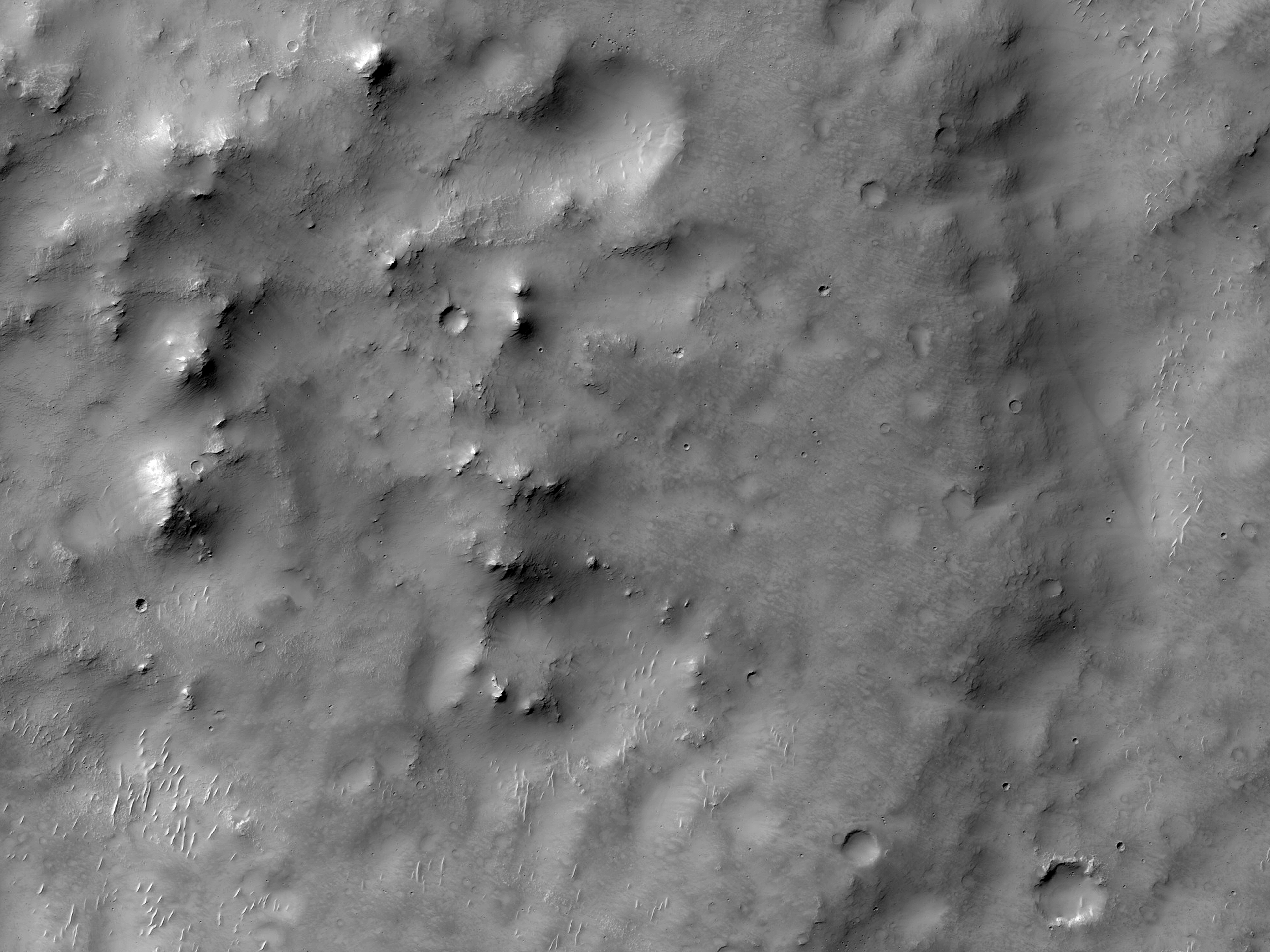Bakhuysen Crater Ejecta Mounds