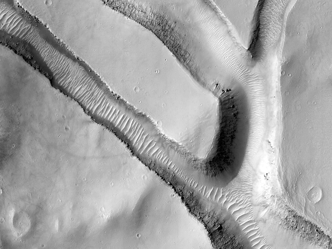 Trau i østlige Candor Chasma