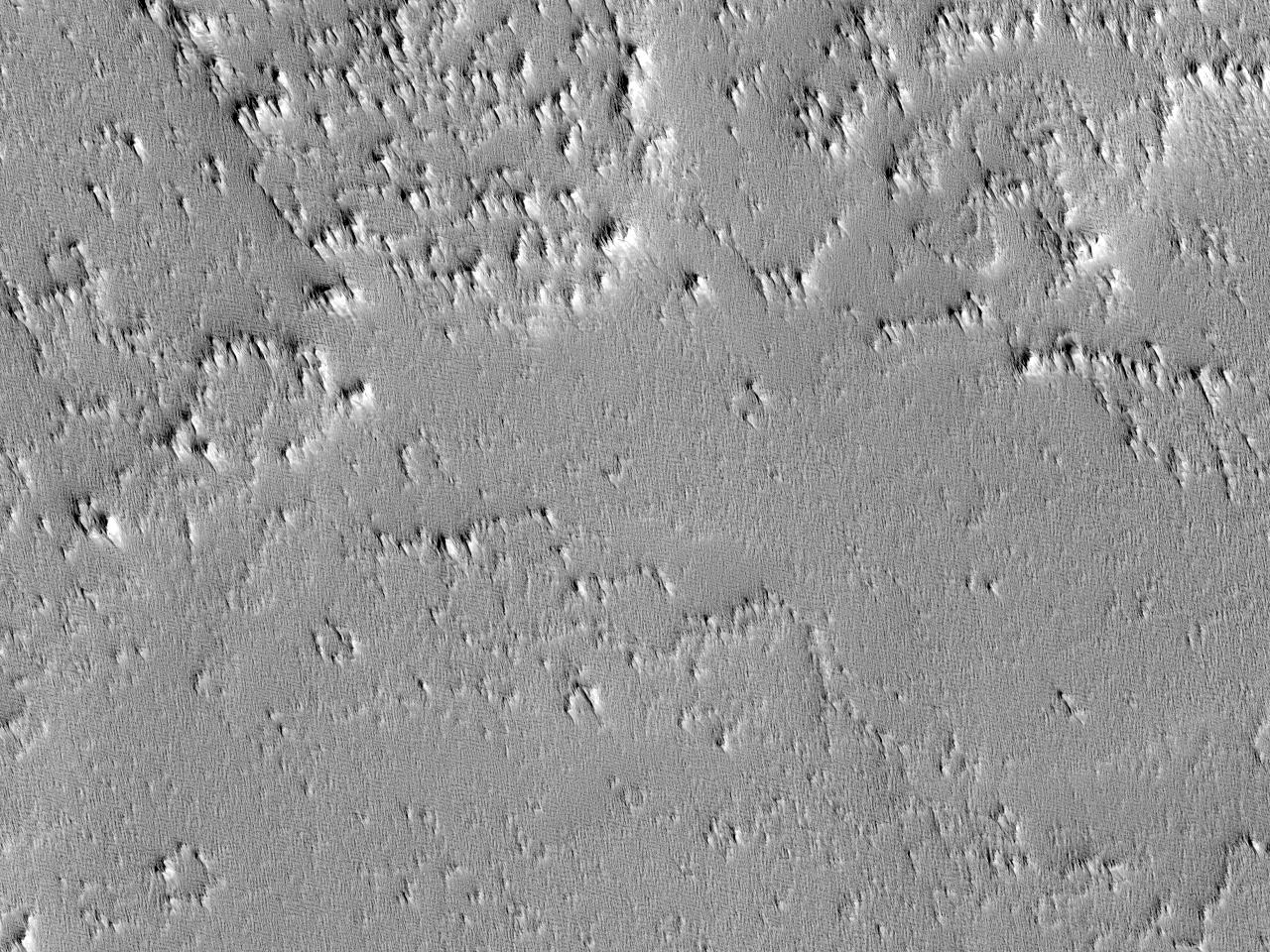 Lava flyter fra Pavonis Mons