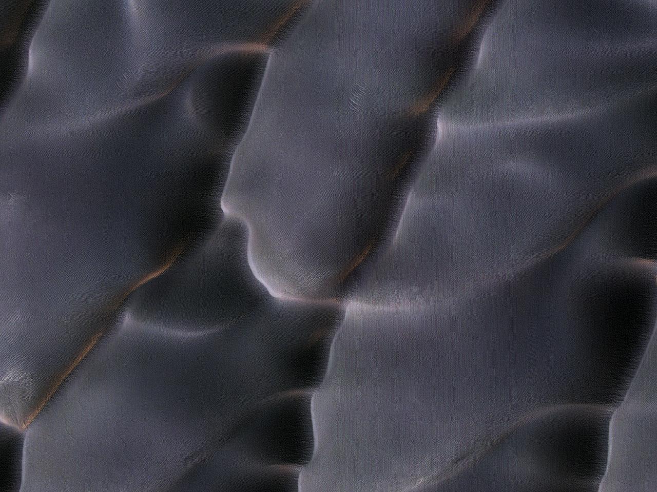 Dyner medvifteformede sedimenter