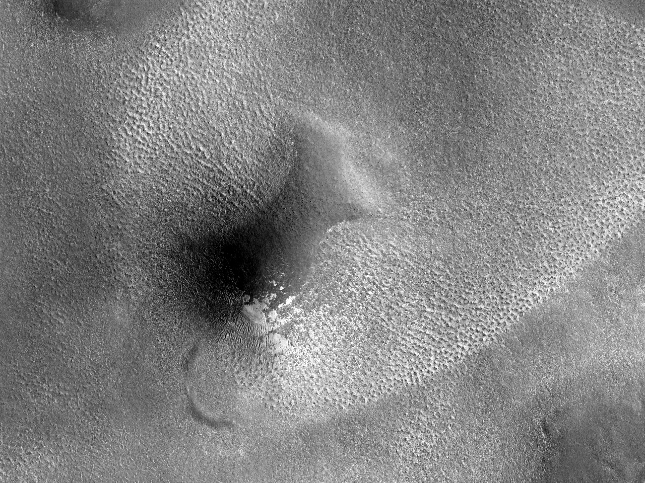 Terrengprøve fra det nordlige Mars
