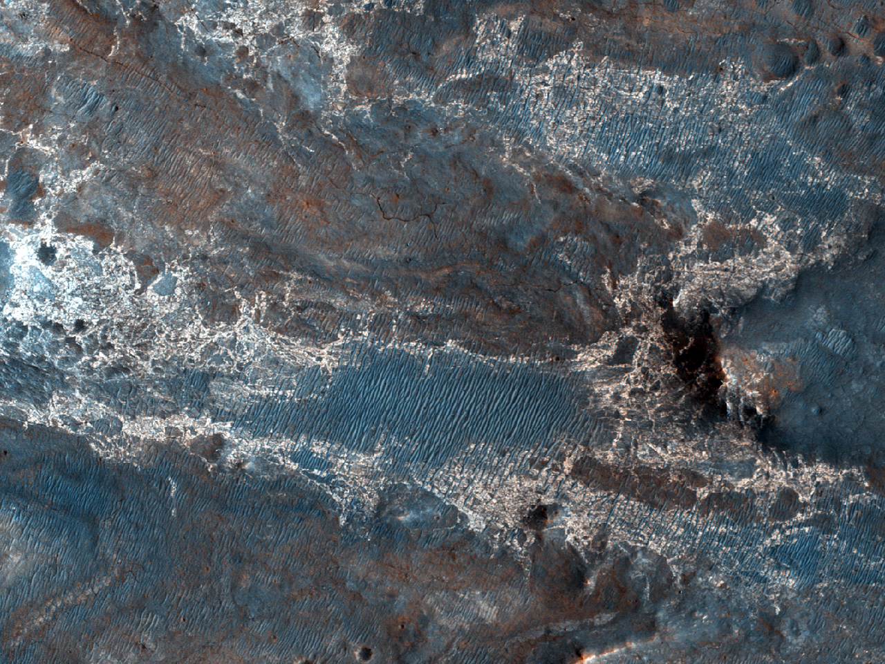 Steinete terreng nærNili Fossae